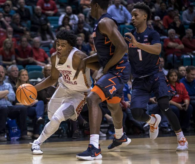 UNLV grinds out 89-82 win over Illinois