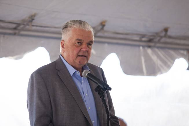 Clark County commissioner Steve Sisolak during a ceremony to celebrate the commissioning of the 179 megawatt Switch Station 1 and 2 Solar Projects, Monday, Dec. 11, 2017.  This is the first-ever project to be built in one of the Bureau of Land Management's Solar Energy Zones.