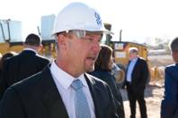 CAI Investments CEO Christopher Beavor speaks to the media during the groundbreaking of its 27,000-square-foot retail and restaurant space across from Palms, Friday Dec. 16, 2017.