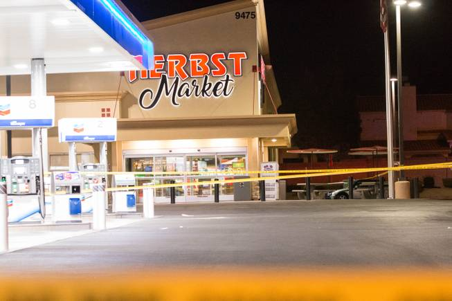 A cashier working at Herbst Market on Desert Inn and Fort Apache roads was shot and killed by her estranged husband who then turned the gun on January 6, 2018.