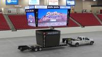 Those attending events at South Point's Arena and Equestrian Center can now stare up at a new video display system almost three times as large as the previous installation. ...