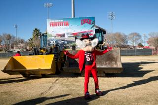 UNLV celebrates the groundbreaking of its Fertitta Football Complex, a 73,000 square foot state of the art training facility, Tuesday Jan. 23, 2018.