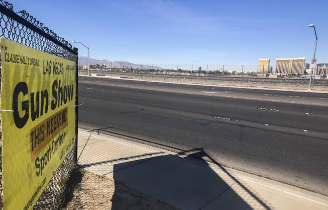 A sign greets guests at the entrance to the Las Vegas Gun Show, set for Jan. 27-28 at the Sports Center of Las Vegas at 121 E. Sunset Road.