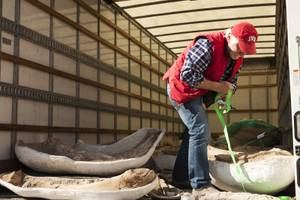 Steve Rowland, UNLV geology professor helps unload during the delivery ...