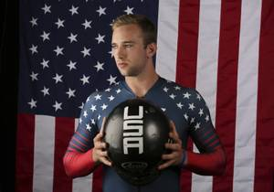 United States Olympic Winter Games bobsledder Evan Weinstock poses for ...