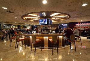 The Lobby Bar is shown during a tour of the Harrah's Las Vegas Tuesday, Jan. 30, 2018. Harrah's recently completed a $140 million renovation of the Valley Tower.