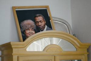 An early portrait of Norma McDuffie and Frank McDuffie sits ...