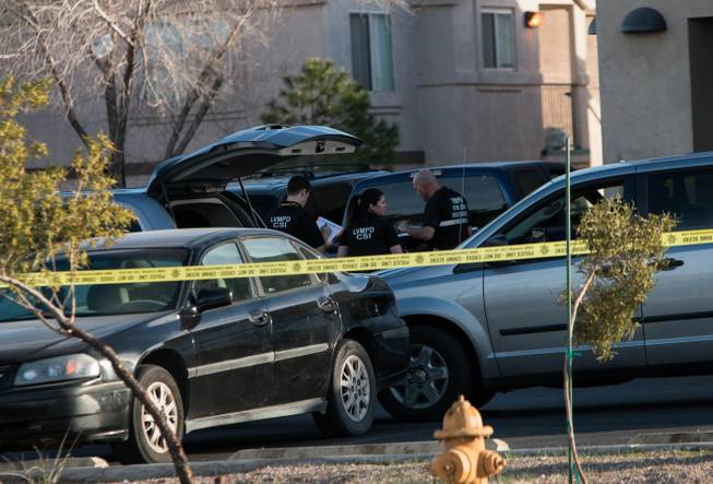Las Vegas police search for suspect after a fatal shooting