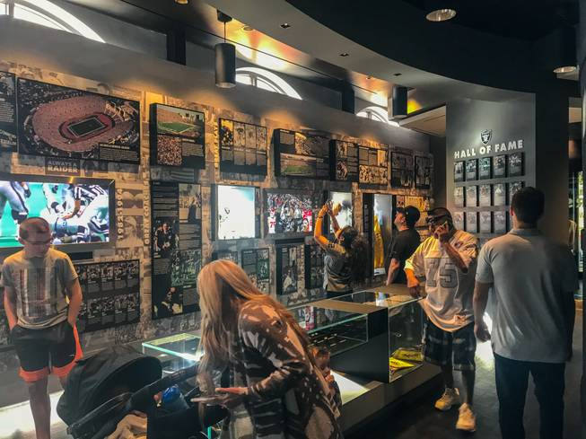 The Raiders' Las Vegas stadium preview center at Town Square mall was filled with patrons on its opening day, Feb. 3, 2018.