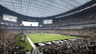 This rendering shows the Raiders stadium in Las Vegas. Construction is expected to be completed in time for the 2020 NFL season.