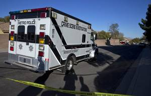 A Crime Scene Investigations van arrives on Atwood Avenue near ...