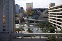 The new convention space at the Aria features a view unlike many spots on the Strip. The third level of the 200,000-square-foot addition features an innovative indoor, open-air veranda space overlooking T-Mobile Arena. The $170 million East Convention Center ...