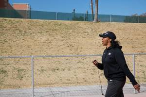 UNLV track coach Yvonne Wade delivers words of encouragement during ...