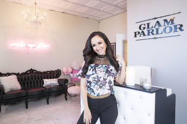 Natalia Harris owns Glam Parlor, which opened this year in Las Vegas.