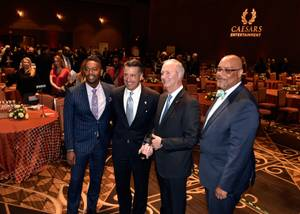From left, Nathan Armogan, general manager of Planet Hollywood Resort ...