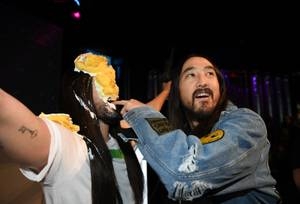 Steve Aoki celebrates the unveiling of his own wax figure ...