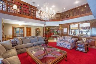 A look at the living room of Jerry Lewis' home located in the Scotch 80s neighborhood, which was listed this week for $1.4 million. Lewis, who died in August 2017, lived at the property for 30 years, according to the listing.