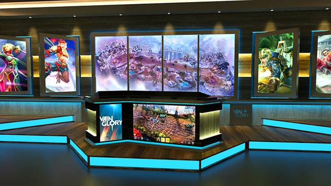 A rendering of the PokerGo Studio at the Aria, which will feature poker and esports productions.