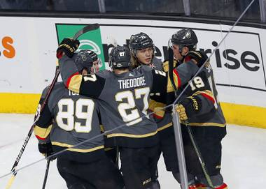 Erik Haula deked around Jonathan Quick to lift the Golden Knights over the Kings in double overtime Friday night at T-Mobile Arena to give Vegas a 2-0 lead in the first round series. It was the Golden Knights' 56th shot on goal of the game ...