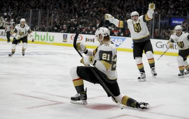 The Golden Knights scored three straight goals in the third period to come from behind and take a commanding 3-0 lead in the first round series over the Kings. Vegas entered the third period trailing 1-0 and stunned the Kings with a flurry of late goals ...