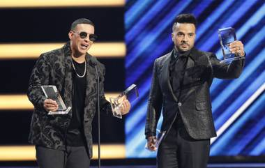 "Daddy Yankee, left, and Luis Fonsi dominated the Billboard Latin Music Awards with ""Despacito."""