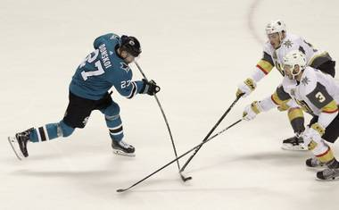 The Golden Knights were unable to beat Sharks goalie Martin Jones, falling 4-0 to even the series 2-2 Wednesday night in San Jose. Jones stopped all 34 Golden Knights' shots ...