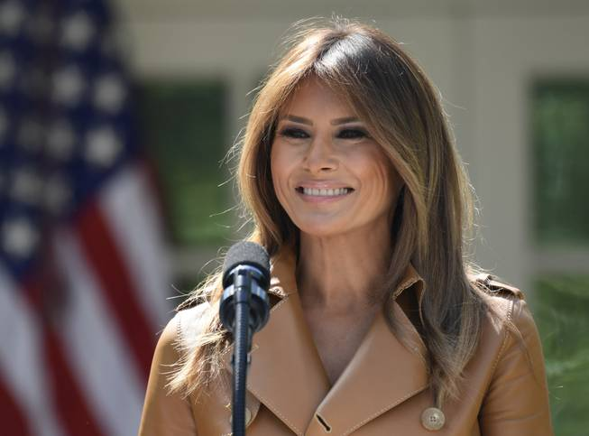 First Lady Melania Trump says she's 'feeling great'