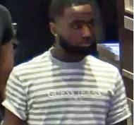 Metro Police say this man is one of two suspects in three thefts April, 22, 2018, on the Las Vegas Strip.