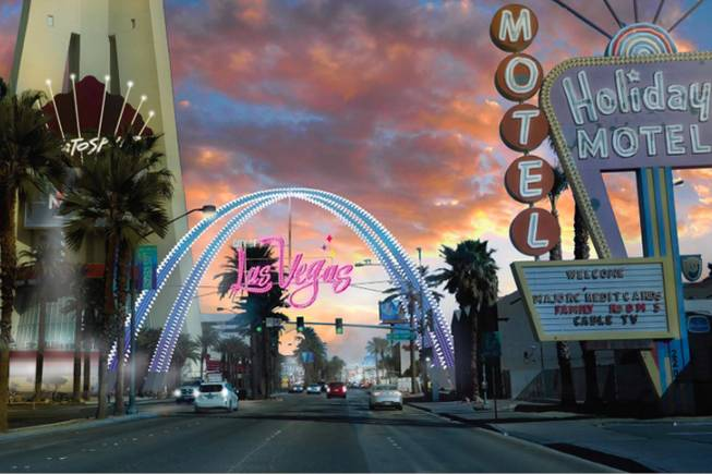 Downtown Las Vegas Welcome Arch