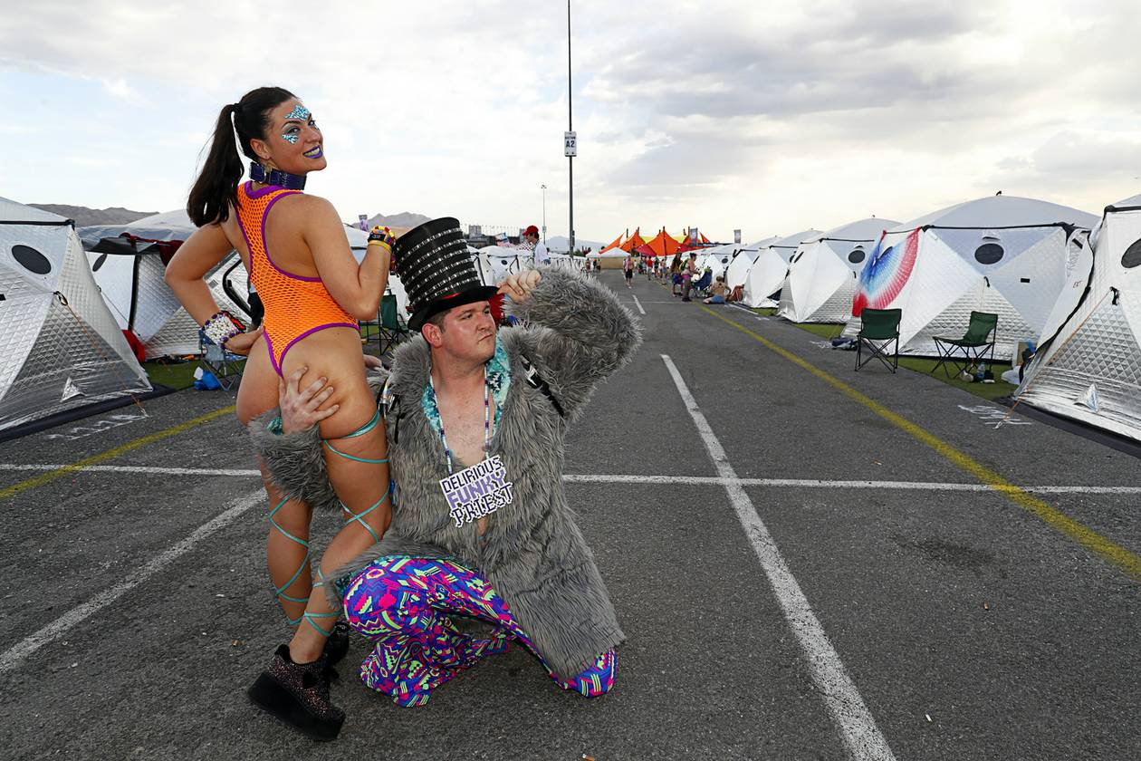 Hours before the Electric Daisy Carnival kicked off a second night of utopia on Saturday in Las Vegas, some revelers took shelter in their ..