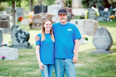Lisa and Tim Anderson have worked in the cemetery and funeral industry for more than 20 years. In that time, they discovered a void that could be filled in memorial upkeep, and so in 2016, they launched Headstone Cleaners.