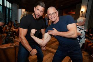 Dave Reid and Robert Irvine pose for a photo during the Summer Cookout event at Public House Thursday, June 14, 2018. The Tropicana partnered up with Three Square Food Bank for its