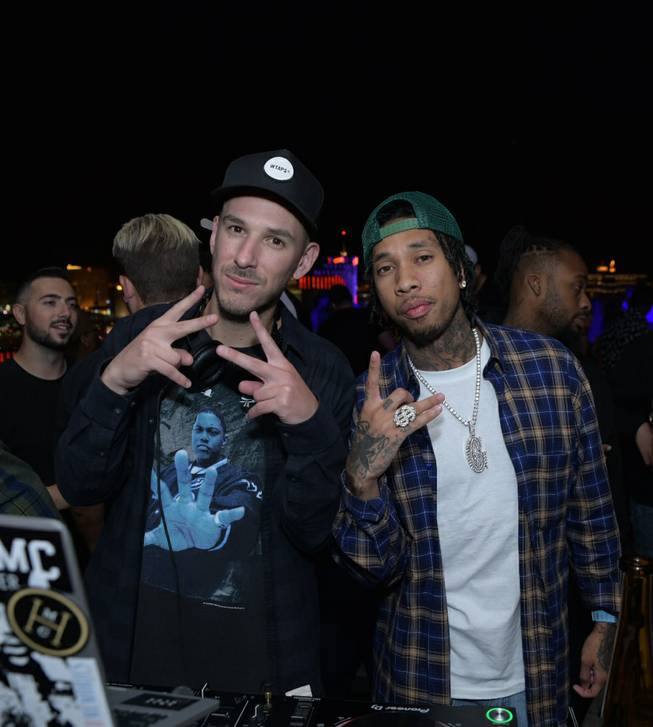 Eric DLux and Tyga at Apex.