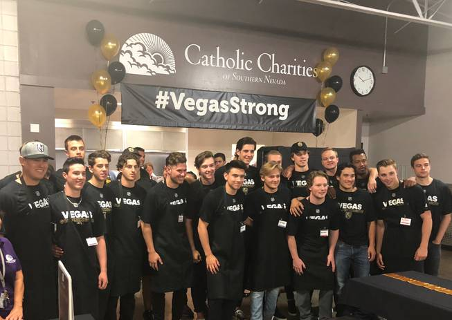 Golden Knights rookies Catholic Charities