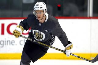 Gage Quinney works out during the Vegas Golden Knights' Development Camp at City National Arena in Summerlin Wednesday, June 27, 2018.