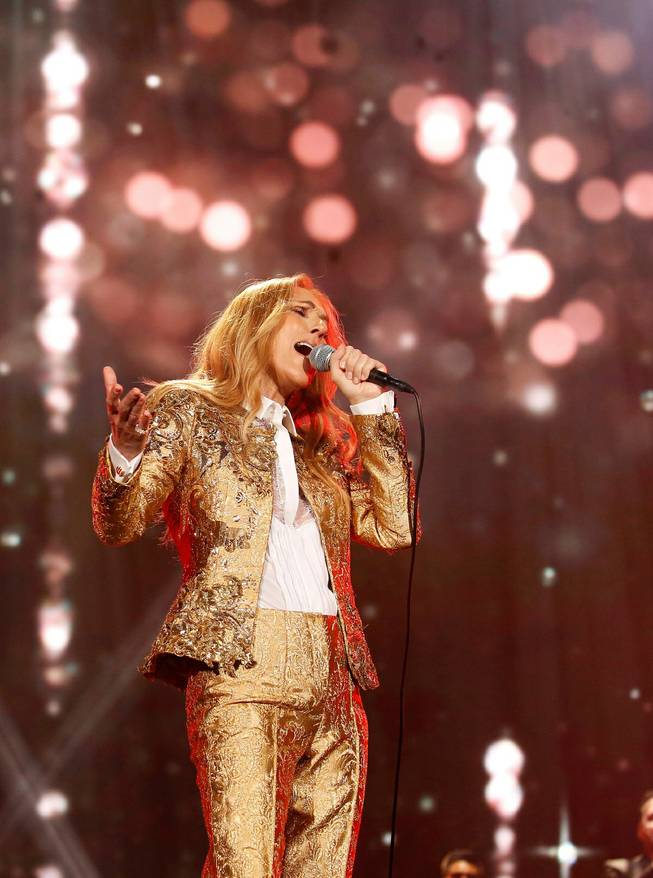 Celine Dion performs at the Tokyo Dome.