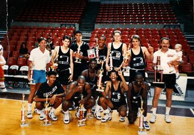 Las Vegas Stars circa 1988-89 after the team won the BCI tournament in Phoenix.