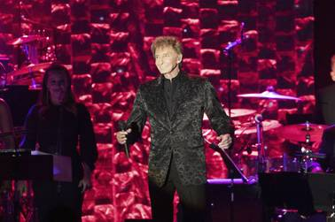 Barry Manilow is at home in Las Vegas at the International Theater