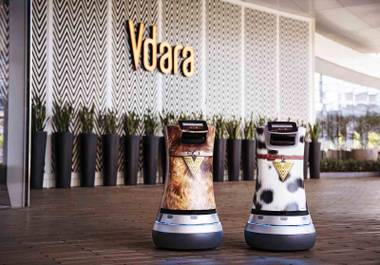Vdara has implanted the use of their robot butlers Fetch and Jett, who deliver snacks, sundries, and spa products. Robots are becoming a very real part of the hospitality world.