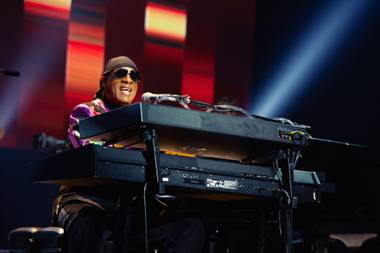 Stevie Wonder performs at Park Theater on August 3.