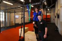 Franchise owner Alona Burns and head coach Cory Drumright pose at the Tough Mudder Bootcamp gym, 6311 N. Decatur Blvd., Friday, Aug. 10, 2018. This year's Tough Mudder events take place on Oct. 20 and 21 at Lake Las Vegas.