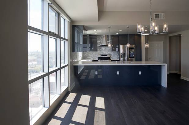 A view of a remodeled condo on the southeast corner of the 17th floor of the Ogden in downtown Las Vegas Tuesday, Aug. 21, 2018.