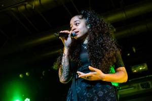 British Singer Ella Mai Performs at Vinyl