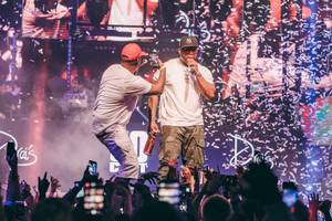 50 Cent Performs at Drai's to Launch Le Chemin Du Roi