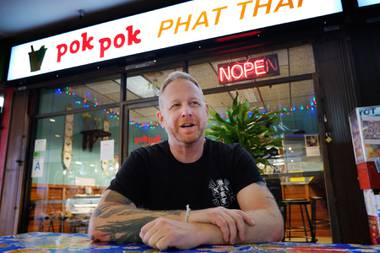 Andy Ricker, pictured here in Los Angeles in 2015, is opening Pok Pok Wing as part of the Cosmopolitan's Block 16 Urban Food Hall.