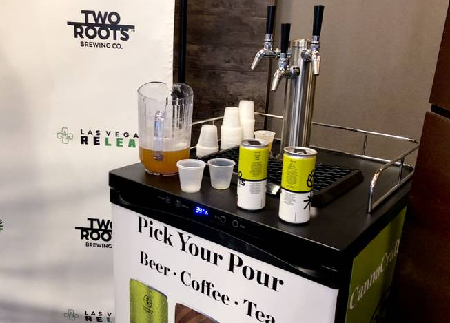 Pot-infused beer debuts at Las Vegas dispensary, Thursday, August 30, 2018.