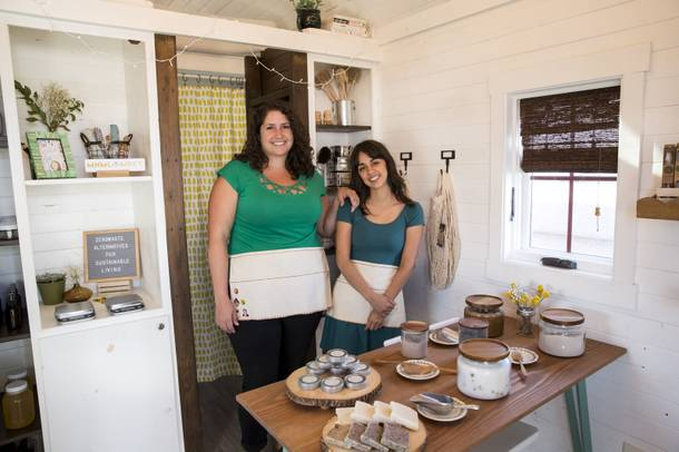 Brie Lujan and Alexandra Hamilton, owners of local business Minimal Market, pose for a photo inside their micro-boutique located at Fergusons Downtown. Wed. Aug 22, 2018.