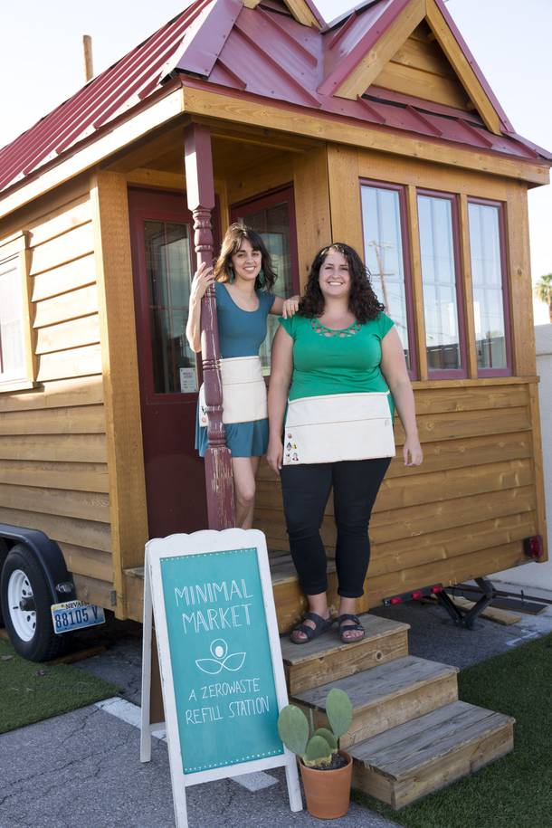 Alexandra Hamilton and Brie Lujan, owners of local business Minimal Market, pose for a photo outside their micro-boutique located at Fergusons Downtown. Wed. Aug 22, 2018.