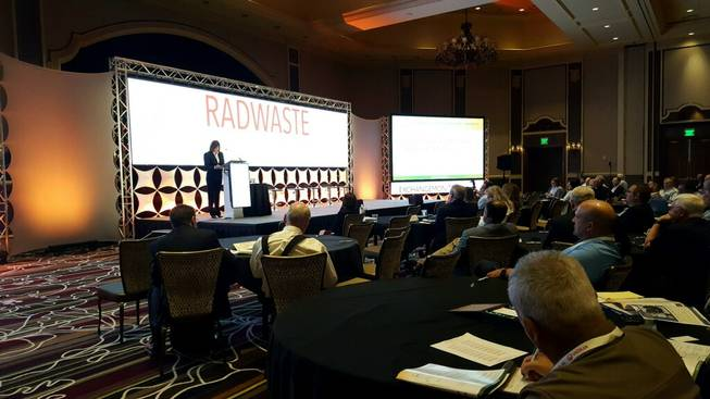 Keynote speaker Anne White helps kick off the 2018 RadWaste Summit on Tuesday, Sept. 4, at Green Valley Resort. This year's event is focusing more on issues outside of the debate surrounding a proposed nuclear waste repository at Nevada's Yucca Mountain.