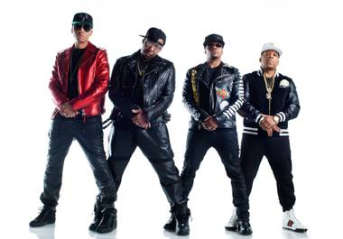 RBRM is, from left, Ronnie DeVoe, Bobby Brown, Ricky Bell and Michael Bivins.
